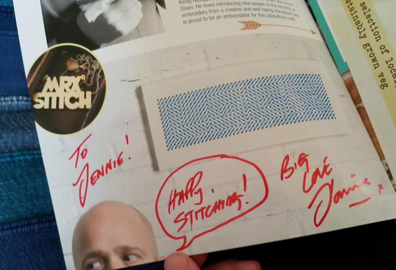 Signed by Mr X Stitch!